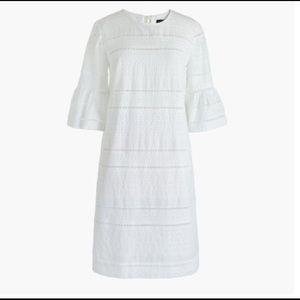 J Crew white eyelet dress with bow